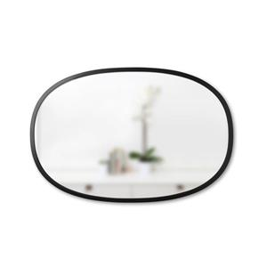 Umbra Black Hub Oval Mirror