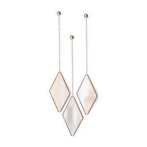 Umbra Copper Dima Mirror (3-Pack)