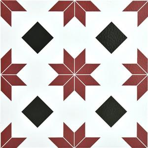 WallPops Orion Tile Stickers - 24-in x 60-in - Black and Red