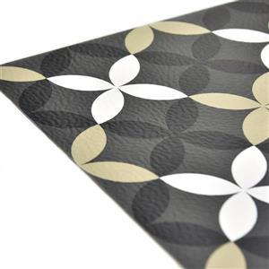 WallPops Clover Sticky Floor Tiles - 24-in x 60-in - Tan