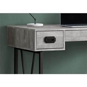 Monarch  48-in Grey with Metal Frame Computer Desk