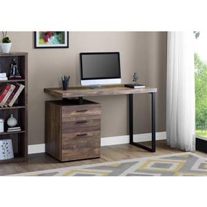 Monarch  30-in x 47.25-in Dark Brown Computer Desk