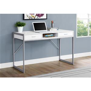Monarch  30-in x 48-in White Computer Desk