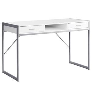 48-in Computer Desk with Metal Frame