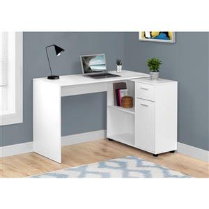 Monarch  29.5-in x 46-in White Computer Desk