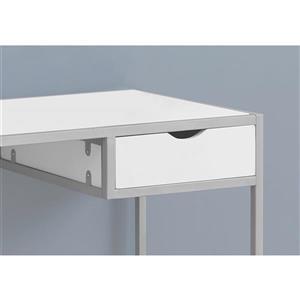 Monarch  30-in x 42.25-in White Computer Desk