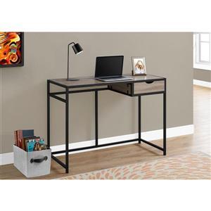 Monarch  30-in x 42.25-in Dark Taupe Computer Desk