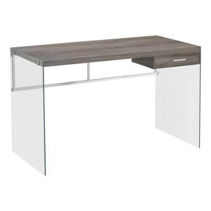 Monarch  30-in x 48-in Dark Taupe Computer Desk