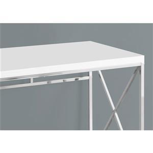 Monarch  29.75-in x 47.25-in White Computer Desk