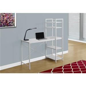 Monarch  47.25-in x 55-in White Bookshelf Style Computer Desk