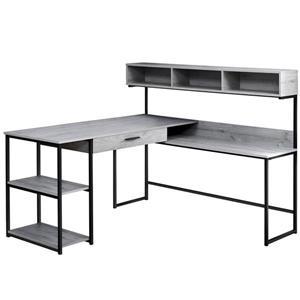 Monarch  47.25-in x 59-in Grey Computer Desk