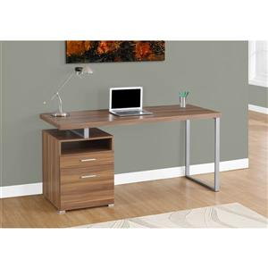 Monarch  30-in x 60-in Walnut Computer Desk