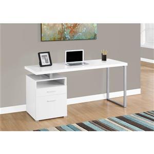 Monarch  30-in x 60-in White Computer Desk