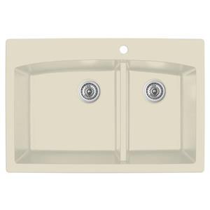 Karran 33-in Bisque Quartz 1.5 Kitchen Sink