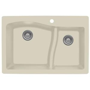 Karran 33-in Bisque Quartz 1.5 Kitchen Sink