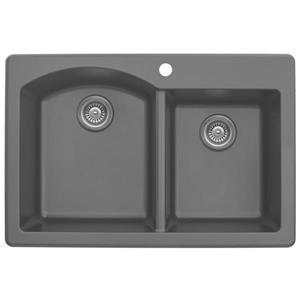 Karran 33-in Gray Quartz 1.5 Kitchen Sink
