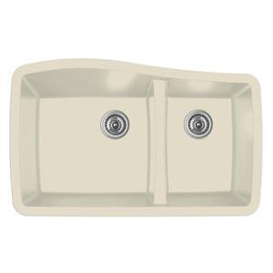 Karran 33.5-in Bisque Quartz 1.5 Kitchen Sink