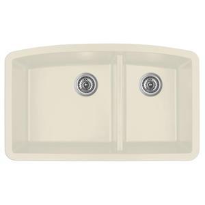 Karran 32.5-in Bisque Quartz 1.5 Kitchen Sink