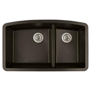 Karran 32.5-in Brown Quartz 1.5 Kitchen Sink