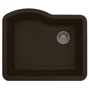 Karran 24-in Brown Quartz Undermount Single Bowl Kitchen Sink