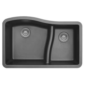Karran 32-in Gray Quartz 1.5 Kitchen Sink