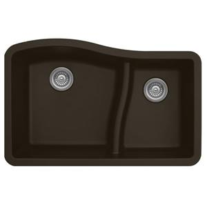 Karran 32-in Brown Quartz 1.5 Kitchen Sink