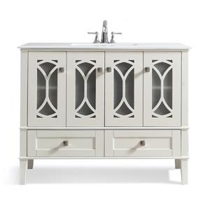 Simpli Home Paige 42-in Off-White Vanity with Sink