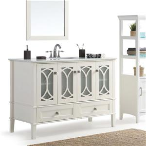Simpli Home Paige 48-in Off-White Vanity with Sink