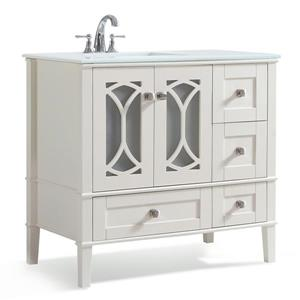 Simpli Home Paige 36-in Off-White Vanity with Sink