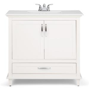 Simpli Home Ariana 36-in Off White With Sink Quartz Marble Bombay Vanity