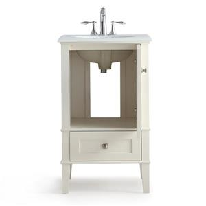 Simpli Home Paige 20-in Off-White Vanity with Sink