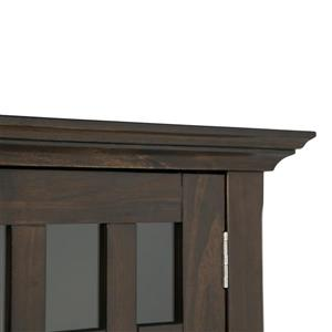 Simpli Home Bedford Tobacco Brown Low Storage Cabinet