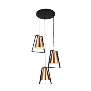Lumirama Coppello Copper 3-Light Pendant Light
