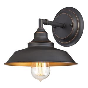Westinghouse Lighting Canada Iron Hill 8.7-in Bronze 1-Light Wall Mount Sconce