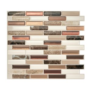 Smart Tiles Milenza Taddio 10-in x 10-in Brown Wall Tiles