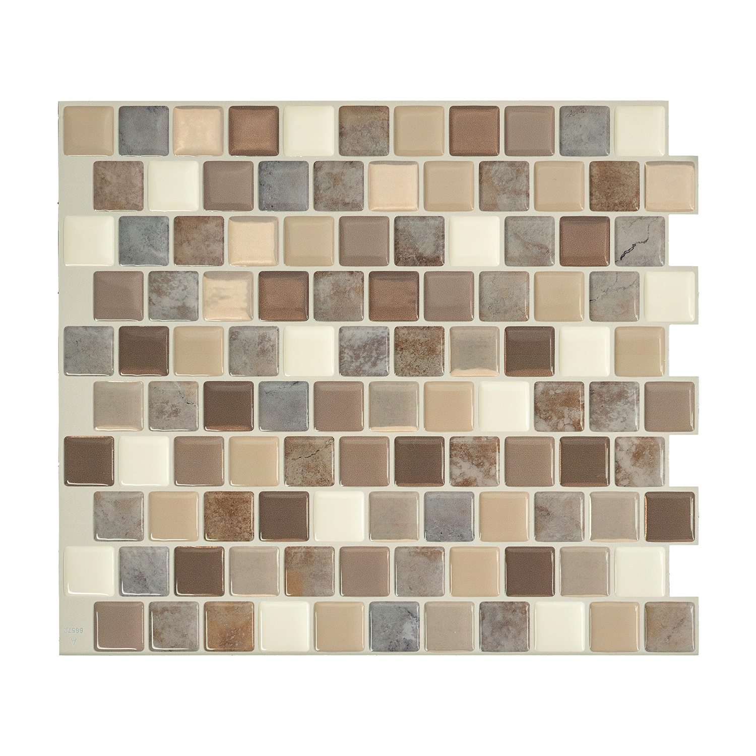 - Smart Tiles Brixia Pardo 10-in X 10-in Stick Self-Adhesive Mosaic