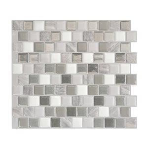 Smart Tiles Bixia Casoria 10-in x 10-in Gray Self-Adhesive Mosaic Wall Tile