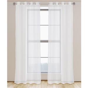 Aura Sheer Elegant Voile 95-in Grommet Top Curtain Panels