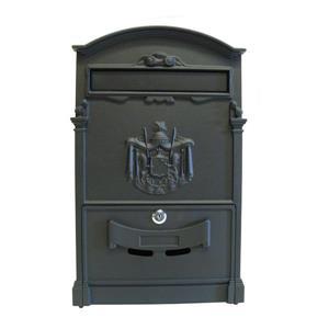 Fine Art Lighting Ltd. Locked Matte Black Aluminum Mailbox