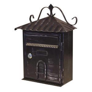Fine Art Lighting Ltd. Black Vintage Locked Mailbox