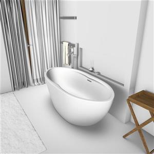 Jade Bath Gemma 67-in Matte White Freestanding Tub