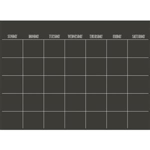 WallPops Monthly Calendar Decal - Matte Black