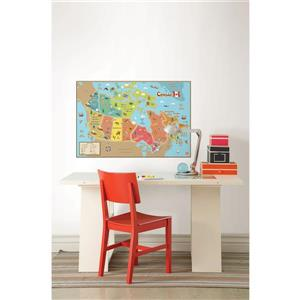 WallPops Canada Dry Erase Map Decal for Kids