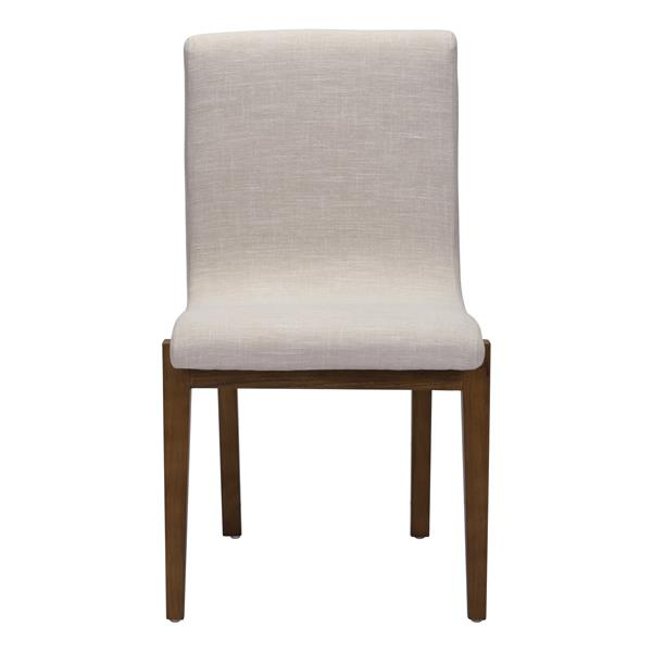 Astounding Zuo Modern Hamilton Beige Fabric Dining Chair Set Of 2 Andrewgaddart Wooden Chair Designs For Living Room Andrewgaddartcom