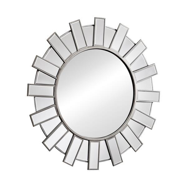 Zuo Modern 42 In Round Inca Mirror, Inca Contemporary Full Length Leaner Mirror Black