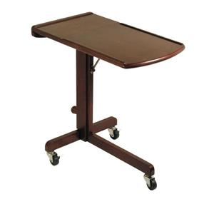Winsome Wood Olson 36.42-in Wood Walnut Adjustable Laptop Cart