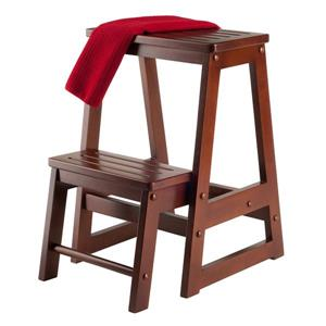 Winsome Wood Brown 15-in x 21.5-in Double Step Stool