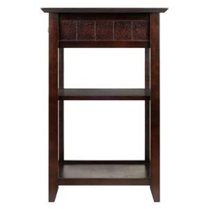 Winsome Wood 19.54-in x 31.1-in Coffee Burke Printer Stand