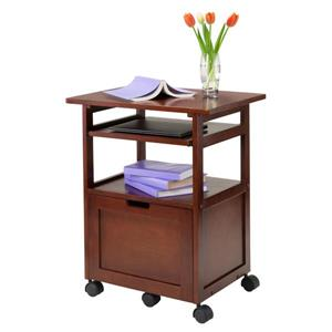 Winsome Wood 24-in x 29-in Walnut Wood Piper Work Cart