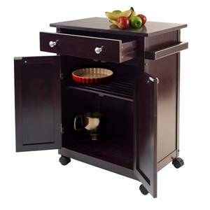 Winsome Wood Savannah Kitchen Cart - 26.89-in x 34.02-in - Wood - Brown
